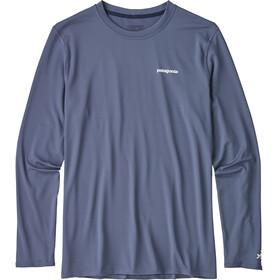 Patagonia M's R0 Sun LS Tee Boardshort Logo: Dolomite Blue